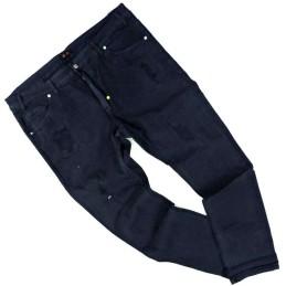 da 60 a 68 jeans blocco 38 taglie forti 58 60 62 64 5 tasche stretch uomo blu