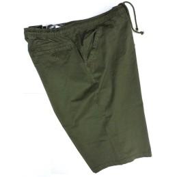 da 3xl a 8xl Bermuda pantalaccio taglie forti maxfort 4xl 5xl 6xl 7xl uomo cotone elastico in vita primavera estate verde